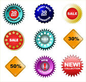 Set of badges and price tags, sale tags for your design. — Stock Photo