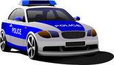 Police car. Municipal transport. Colored vector illustration. — Stock Photo