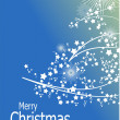 Blue abstract Christmas background with white snowflakes — Stock Photo #5864161