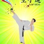 Oriental combat sports. Poster of Karate. Vector illustration — Stock Photo #5864234