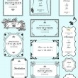 Set of ornate vector frames and ornaments with sample text. Perf — Stockfoto