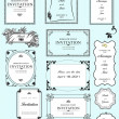 Set of ornate vector frames and ornaments with sample text. Perf — Foto Stock