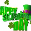 Vector of green hats and shamrocks for St. Patrick's Day — Stock Photo #5864247