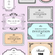 Set of ornate vector frames and ornaments with sample text. Perf — Foto de Stock