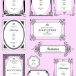 Set of ornate vector frames and ornaments with sample text. Perf — Stock Photo #5864399