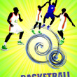 Basketball poster. Vector illustration - Lizenzfreies Foto