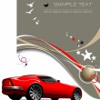 Light brown business background with red sport  car image. Vecto — Stock Photo