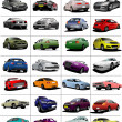 Big set of 32 kinds cars on the road. Vector illustration — Stock Photo #5864551