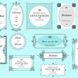 Set of ornate vector frames and ornaments with sample text. Perf — ストック写真