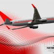 Corporate Business Technology Background with plane image — Стоковая фотография