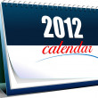 Vector illustration of desk calendar. 2012 year — Stock Photo