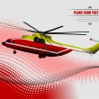 Air force. Red-yellow helicopter. EPS10 Vector illustration — Stock Photo
