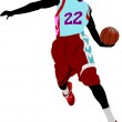 Basketball player. Vector illustration — Stock Photo