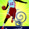 Basketball poster. Vector illustration - Foto Stock