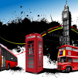 Stock Photo: London rarity red images. Vector illustration