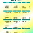 2012 calendar. Vector illustration — Stock Photo