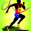 The running . Vector illustration - Foto Stock