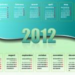 2012 calendar. Vector illustration — Stock Photo