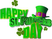 Vector of green hats and shamrocks for St. Patrick's Day — Stock Photo