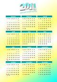 Kalendarz 2011. ilustracja kolorowy wektor — Zdjęcie stockowe