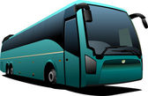 Green tourist bus. Coach. Vector illustration for designers — Stock Photo