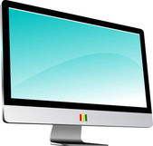 Flat computer monitor. Display. Vector illustration — Stock Photo