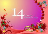 Valentine`s Day Greeting Card. Vector illustration. Invitation — Стоковое фото