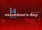Valentine`s Day red background. 14 February. vector illustration — Stock Photo