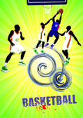 Basketball poster. Vector illustration — Stock Photo