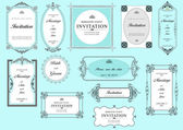 Set of ornate vector frames and ornaments with sample text. Perf — Stock Photo
