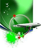 Avion de passagers sur l'air. illustration vectorielle — Photo