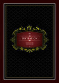 Invitation vintage card. Wedding or Valentine`s Day. Vector illu — Stock Photo