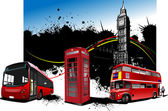 London rarity red images. Vector illustration — Stock Photo