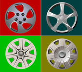 Decorative car wheel covers. Plate. Vector illustration — Stock Photo