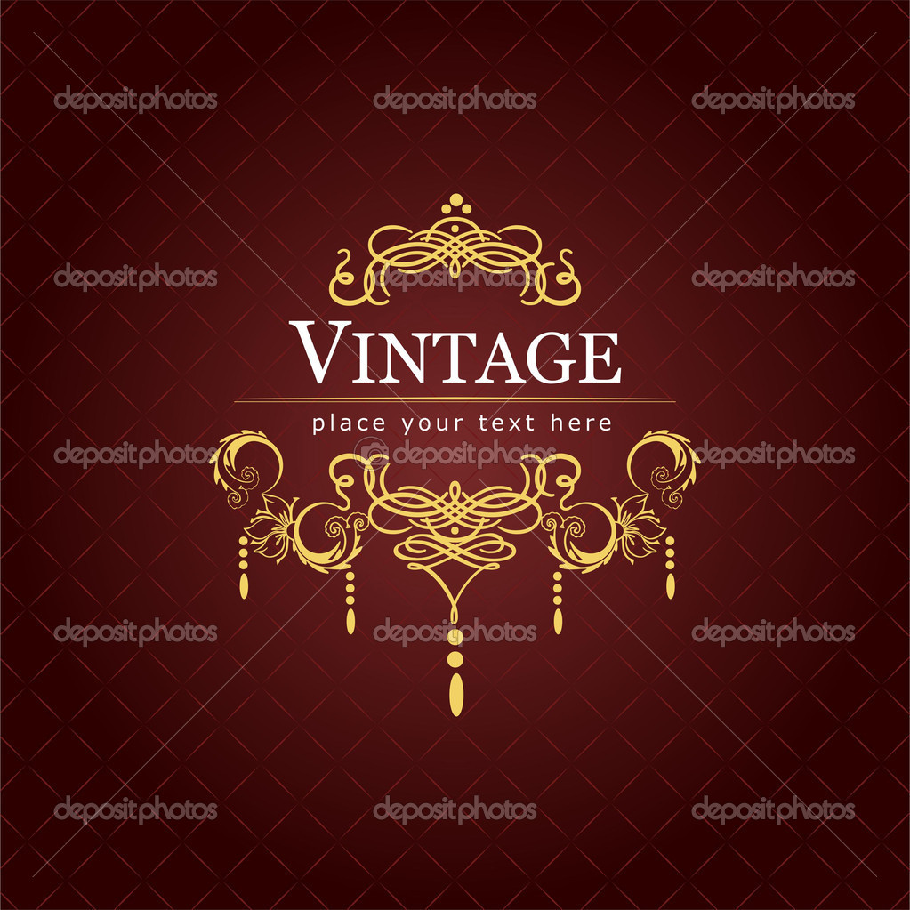 Invitation vintage card. Wedding or Valentine`s Day. Vector illustration — Stock Photo #5864595