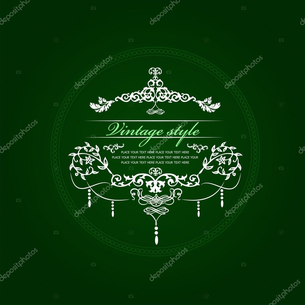 Wedding or Valentine`s day vintage style card. Vector illustration — Stock Photo #5864604