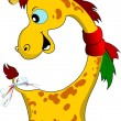 Stock Vector: Little funny giraffe.
