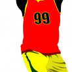 Basketball player. Vector illustration — Stock Vector