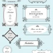 Royalty-Free Stock ベクターイメージ: Set of ornate vector frames and ornaments with sample text. Perf