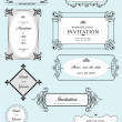 Set of ornate vector frames and ornaments with sample text. Perf — Stock Vector #6663744