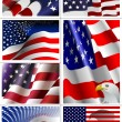 Stockvector : 4th July – Independence day of United States of America. Big s