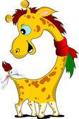 Lite funny giraff. — Stockvektor