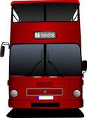 London double Decker red bus. Vector illustration — Stock Vector