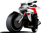 Biker. Vector illustration — Stock Vector