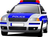 Police car. Municipal transport. Colored vector illustration. — Stock Vector