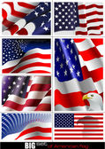 4th July – Independence day of United States of America. Big s — Vetor de Stock