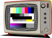 Vector Retro TV with color frame — Stock Vector