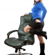 Stock Photo: Womnear on luxury office armchai