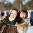 Y girls plays in winter park — Stock Photo #5429205