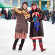 Royalty-Free Stock Photo: Girls celebrating  Shrovetide  at Russia